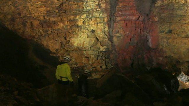 Inside a volcano