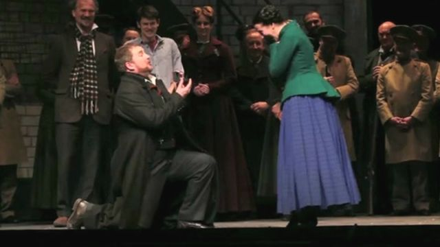 Joe Roche proposes to Polly Greenwood