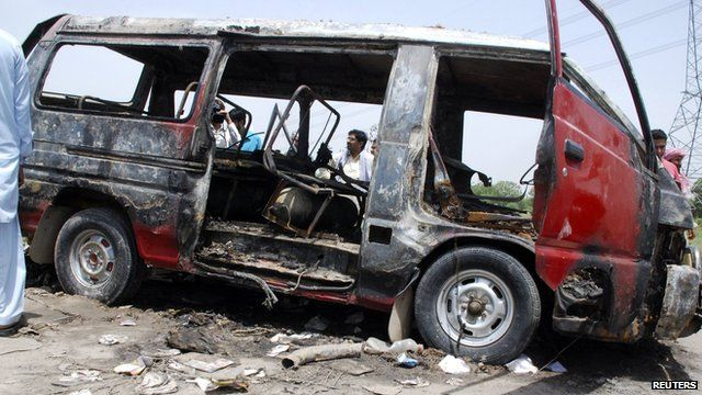 Bus wreckage