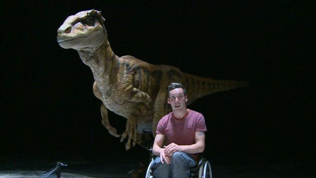 Martin on Walking with Dinosaurs set