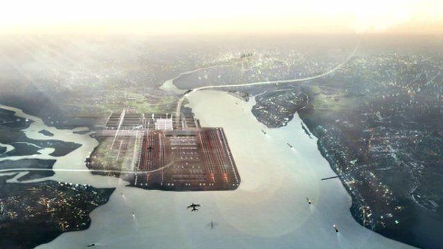 Artist's impression of Thames Estuary airport