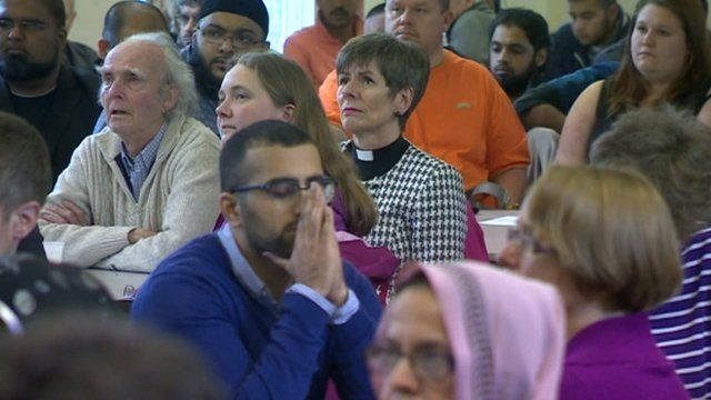 Prayers were held at the inter-faith meeting in Nottingham