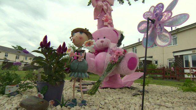 Floral tributes to April Jones
