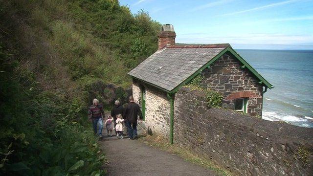 The cabin at Bucks Mills in Devon