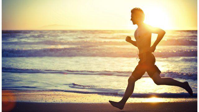 Runner on a beach