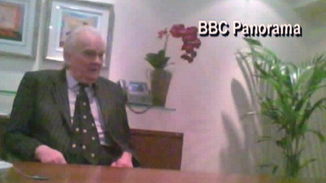 Ulster Unionist Lord Laird filmed by Panorama