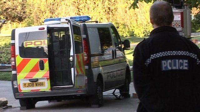 Police van in Pudsey Park