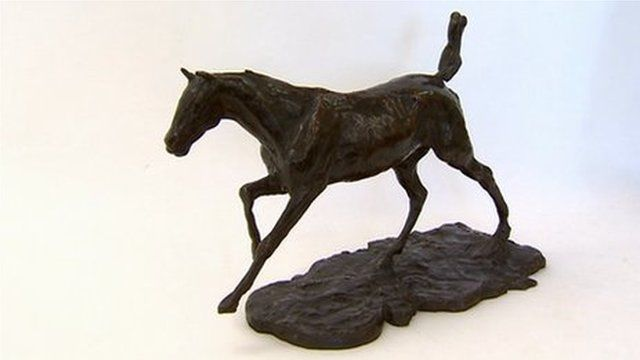 Degas galloping horse sculpture by Degas which has been acquired by National Museum Wales
