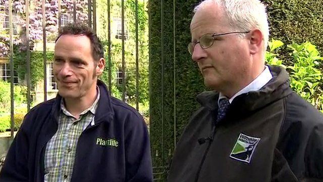 Trevor Dines of Plantlife (left) and Stephen Davis of the Wiltshire Wildlife Trust