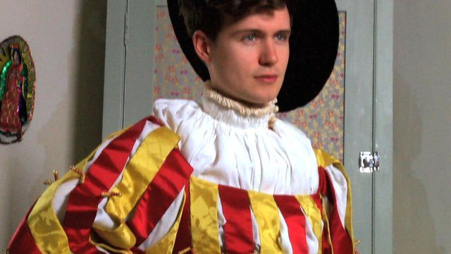 Model wears 16th century outfit
