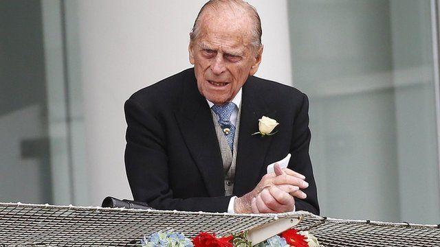 Duke of Edinburgh attending the Epsom Derby on 1 June