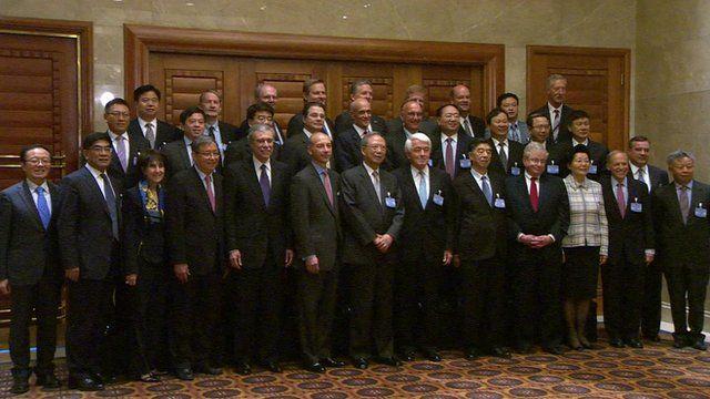 Business leaders in Beijing