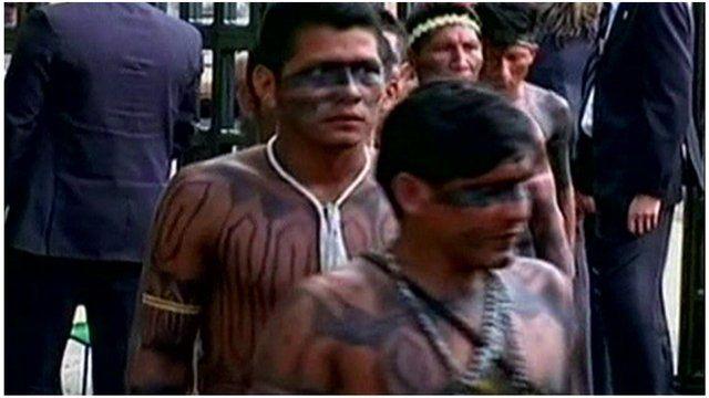 Members of the indigenous Terena tribe