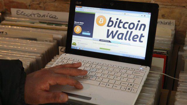 Bitcoin on a screen