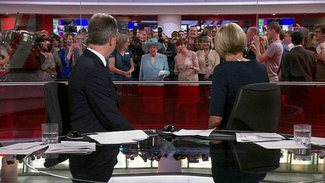 The Queen appears on BBC News Channel
