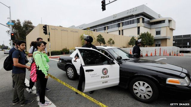 Police car outside Santa Monica College