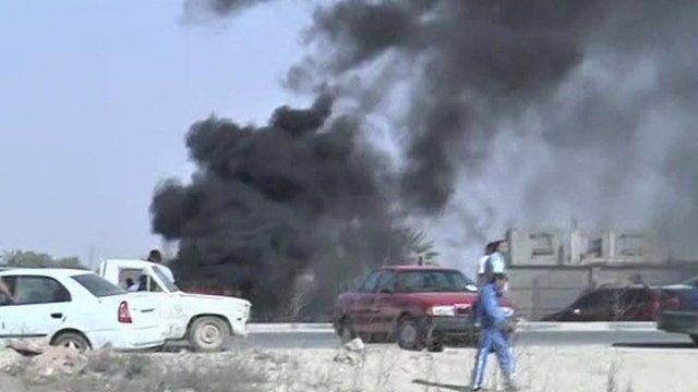 Scene of clashes in Benghazi