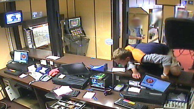 Mark Rutter in a betting shop