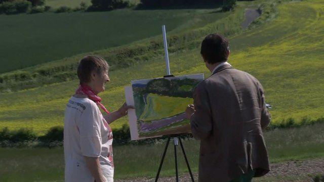 Robert Peston has a go at landscape painting