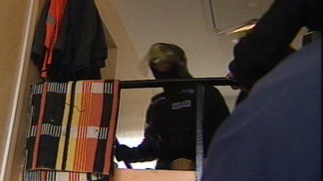 Police raid in Cornwall