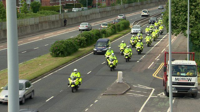Police on Sydenham By-pass