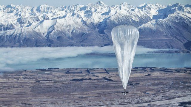 Google launch balloons in space