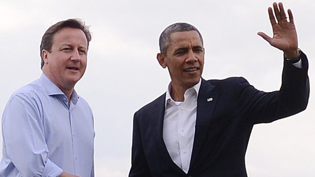 David Cameron, Barrack Obama