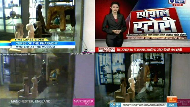 Statue reported on news channels