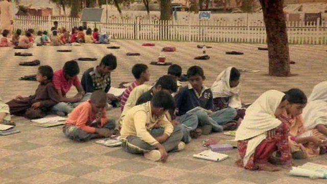 Children at an open air school