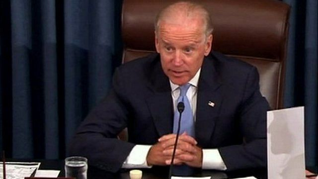 Joe Biden presided over the vote