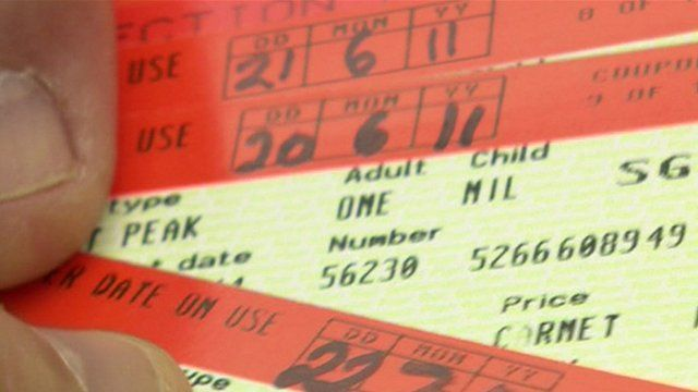 Carnet train ticket