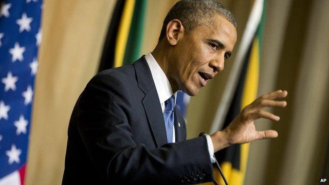 President Obama in Pretoria