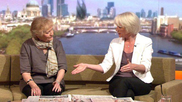 Sue MacGregor and Sarah Baxter