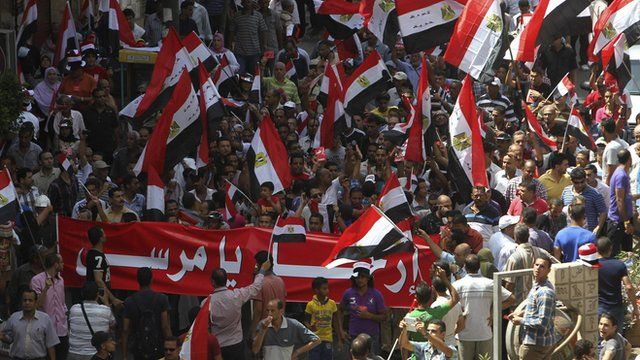 People protesting in Cairo's Tahrir Square