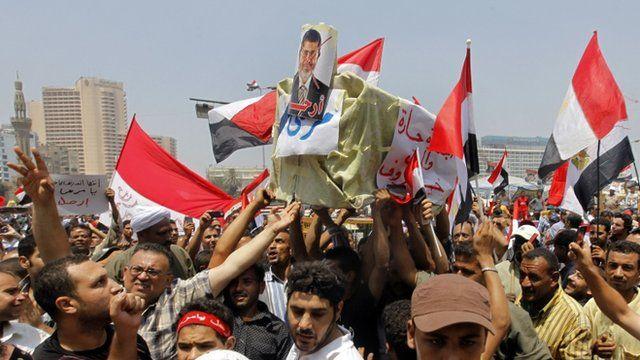 Opponents of Egypt's Islamist President Mohammed Morsi in Tahrir Square, Egypt