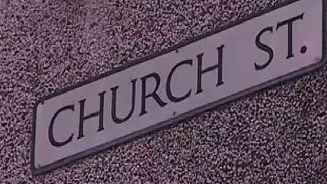 Church Street road sign