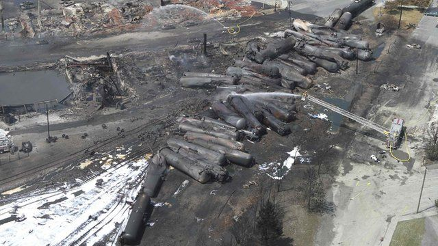 Aftermath of the Quebec train crash