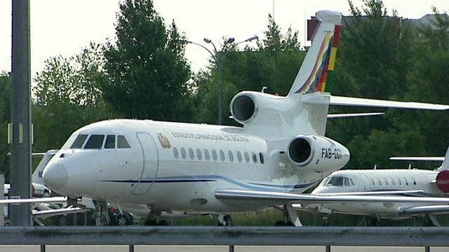 Bolivian president's plane