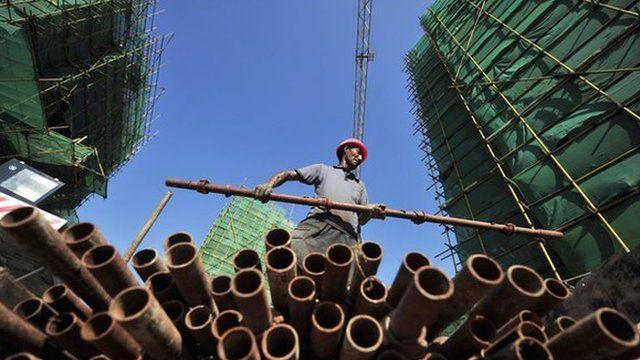 Construction site, Fuzhou, Fujian province