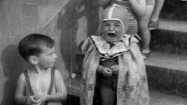 Still from British Pathe footage of ''bonny baby'' competition