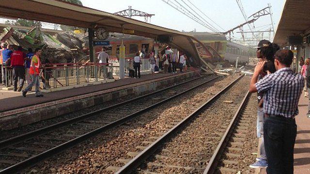 train crash at Bretigny-sur-Orge,