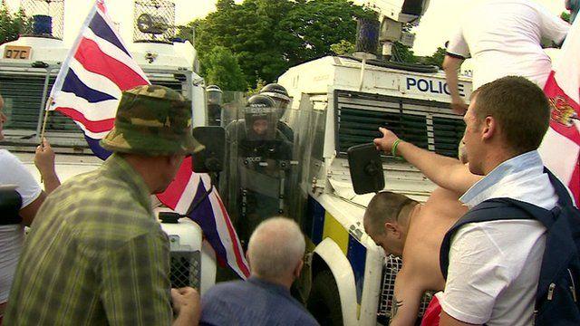 Police and Orangemen in Belfast