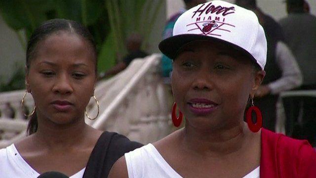 Trayvon Martin's cousins Roberta and Iesha Felton