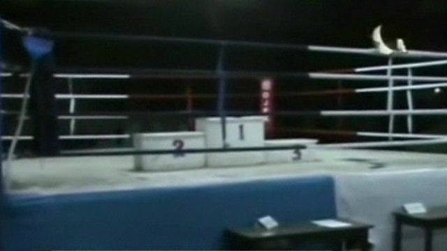 The boxing ring where the riot began