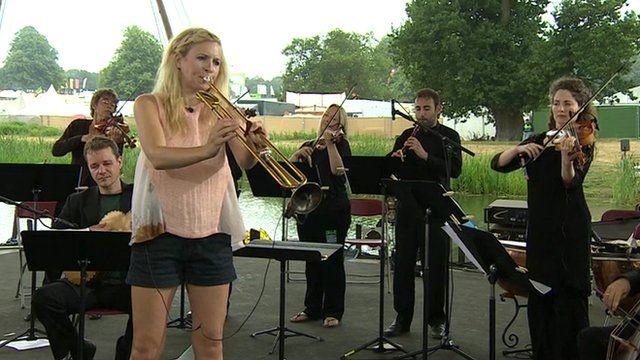 Alison Balsam and accompaniment