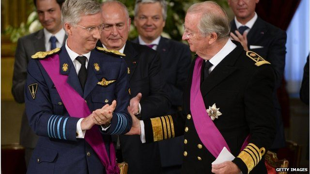 King Albert II of Belgium and Prince Philippe