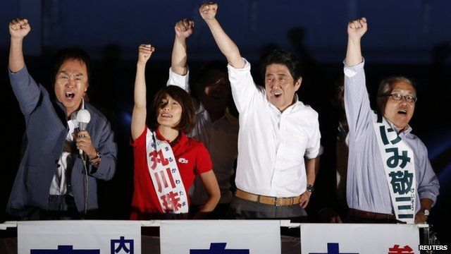 "Japan""s Prime Minister Shinzo Abe and the leader of the ruling Liberal Democratic Party"