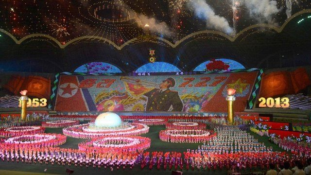 Arirang mass games performance at Pyongyang's May Day Stadium