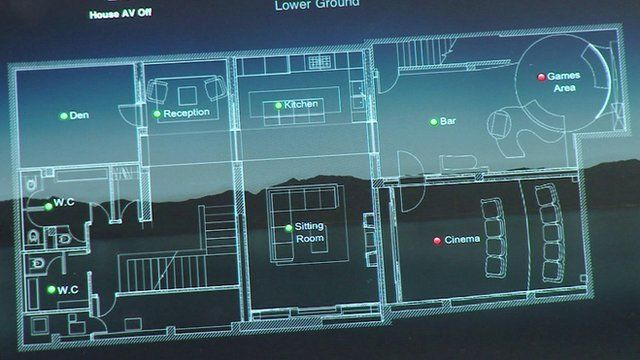 Interactive floor plan on a tablet