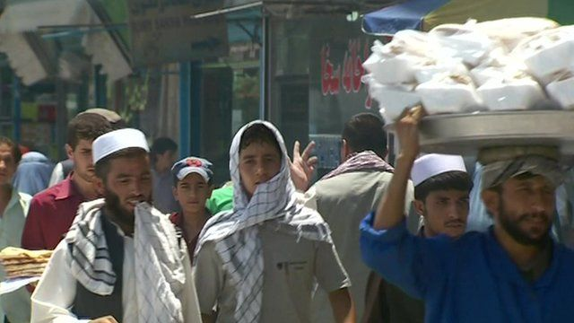 Ordinary Afghans have to continue with normal life amongst the bombing and firing on a regular basis
